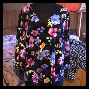 Multi floral, angel wing style tunic